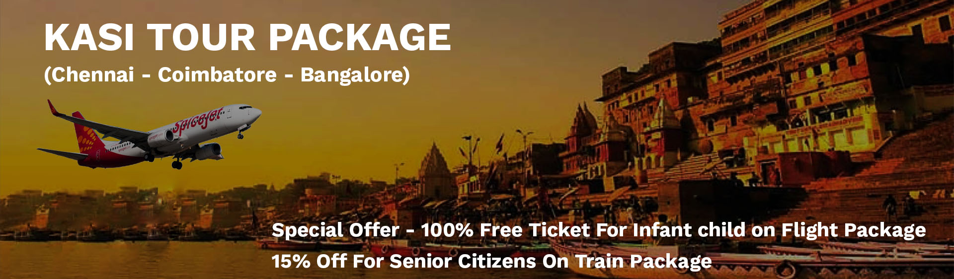 chennai to kasi flight package